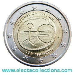 Italy – 2 Euro, 10th Anniversary of the Euro, 2009